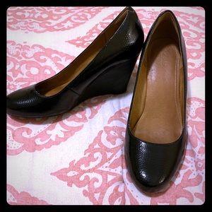 Clarks Purity Crystal wedge heels